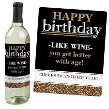 birthday wine amazon com happy birthday gold wine bottle labels