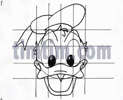 free drawing of draw donald duck bw from the category art