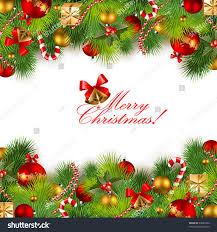 christmas background baubles christmas tree stock vector 64984492