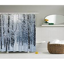 Shower Curtains With Trees Winter Shower Curtains