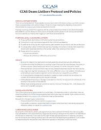 Resume Temporary Jobs Ccas Deans Listserv Protocol U0026 Policies Council Of Colleges Of
