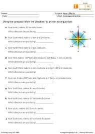 primaryleap co uk compass direction worksheet