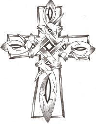 drawn cross coloring pencil color drawn cross