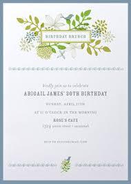birthday brunch invitation shabby chic birthday brunch invitations elise 18th birthday