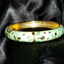 vintage bangle bracelet images Jtf jewelry vintage gold green hinged bangle bracelet poshmark jpg