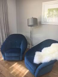 Stylish Armchairs Mid Century Ivo Parisi Italian Designer Stylish Armchairs Blue
