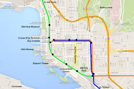 Map San Diego Riding The San Diego Trolley Step By Step Guide