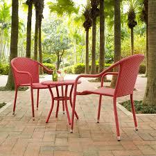 crosley ko70060re palm harbor 3 piece outdoor wicker cafe seating
