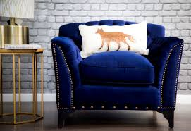 Blue Occasional Chair Design Ideas Accent Chairs Living Room Furniture With Blue Velvet Chair