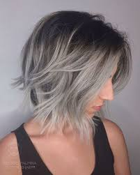 brown and blonde ombre with a line hair cut best 25 silver ombre short hair ideas on pinterest ash blonde