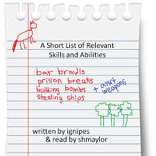 podfic a short list of relevant skills and abilities shmaylor