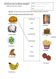 preschool french resources food and drink