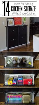 kitchen cabinet storage ideas ikea 14 ways to use an ikea shoe cabinet for kitchen storage