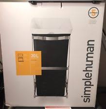 Steel Frame Kitchen Cabinets Under Kitchen Cabinet Double Pull Out Trash Can With Lid 30l 8 Gal