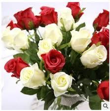 2017 artificial flower rose pu rose simulation flower wholesale