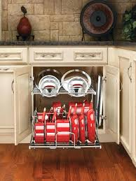 kitchen cabinet organizers for pots and pans kitchen cabinet organizer slide out organizers cabinets two tier