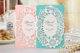 Cheap Wedding Invitation Cards 2016 New Design Wedding Invitations Hollow Out Flower Laser Cut