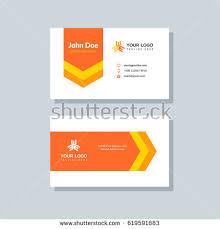 Flat Design Business Card Modern Blue Business Card Template Flat Stock Vector 619591952