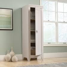 metal storage cabinet with doors adept storage narrow storage cabinet 418085 sauder