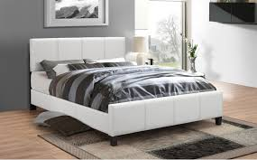 white leather bed frame queen susan decoration