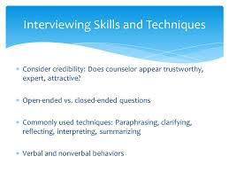 Counseling Interviewing Skills Initial Assessment In Counseling Ppt