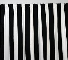 interior endearing black and white striped curtains for windows