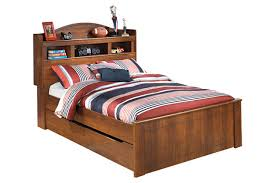 Trundle Bed With Bookcase Headboard Barchan Full Bookcase Bed With Trundle Ashley Furniture Homestore