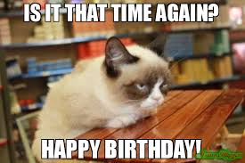 Grumpy Cat Meme Happy Birthday - happy birthday grumpy cat images mydrlynx