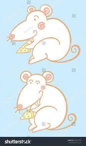 happy mice ornamental childish style stock vector 218617516