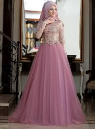 evening dresses pink fully lined crew neck muslim evening dress al marah