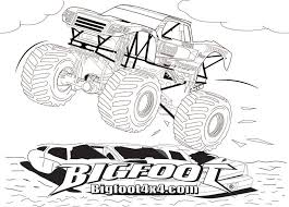 bigfoot the place for little monster truck fan 281030 coloring