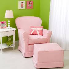 Pink Nursery Rocking Chair Micro Suede Baby Pink Regal Cushion Glider And Upholstered