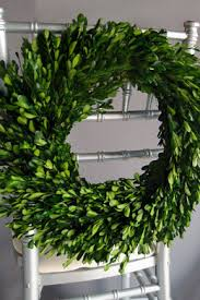 preserved boxwood garland 45in
