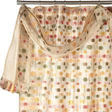 amazon com popular bath sunset dots shower curtain with detach