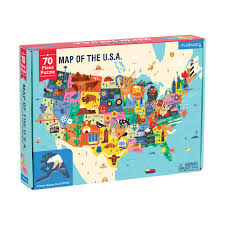 Image Of Usa Map by Map Of The U S A Puzzle Mudpuppy
