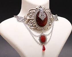 red gothic necklace images Aeternum nocturne gothic jewelry and fashion by aeternumnocturne jpg
