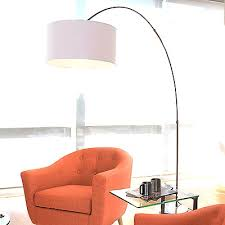 Curved Floor Lamp Curved Floor Lamp With Large Shade Big White Modern Home Decor And