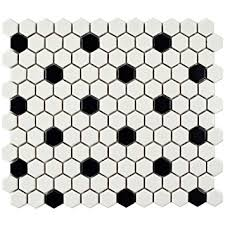 somertile fdxmhmwd retro hex porcelain floor and wall tile 10 25