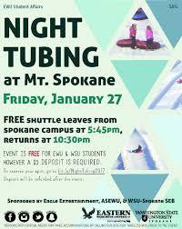 Wsu Campus Map Night Tubing At Mt Spokane