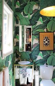 style inspiration wallpaper in the bathroom apartment therapy
