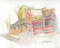 building sketch etsy