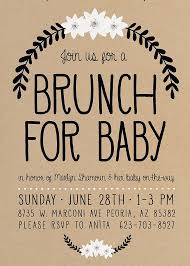 brunch invitation ideas baby shower brunch invitations marialonghi
