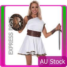 Goddess Halloween Costume Ladies Greek Gladiator Warrior Goddess Roman Toga Costume