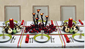 Gold Christmas Centerpieces - holiday dinner table decorating christmas centerpieces winter