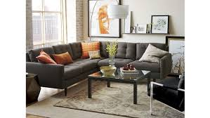 Oval Sofa Bed Crate And Barrel Sectional Sofa Bed Brokeasshome Com