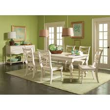 riverside placid cove 7 piece rectangular dining set with x back