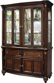 Black Dining Hutch Furniture Buffet With Wine Rack Kitchen Buffet And Hutch
