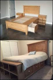 Diy Bedroom Storage Farmhouse Storage Bed With Storage Drawers Diy Projects Master