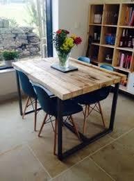 Chic Industrial Recuperada  Plazas Altura Poseur Barra Mesa - Bar table for kitchen