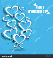 beutiful happy friendship day background blue stock vector